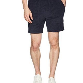 Original Penguin Men's French Terry Reversible Short, Dark Sapphire, Medium
