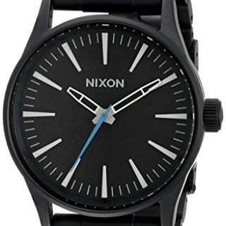 Nixon Men's Sentry 38 SS Analog Display Japanese Quartz Black Watch