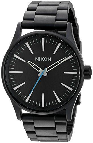 Nixon Men's Sentry 38 SS Analog Display Japanese Quartz Black Watch