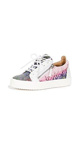 Giuseppe Zanotti Women's Zip Side Sneakers, Multi, 38 IT