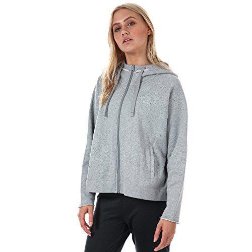 adidas Originals Women's Zip Hoody Medium 14 Grey