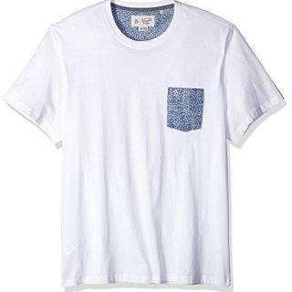 Original Penguin Men's Short Sleeve Shell Print Pocket Tee, Bright White, Large