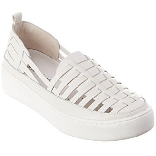 Donald Pliner Cierra Leather Sneaker, 7.5, White