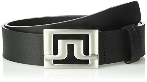 J.lindeberg Men's Slater Pro Leather Belt, black, 100