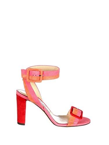JIMMY CHOO Women's Dacha85pouflamin Pink Leather Sandals