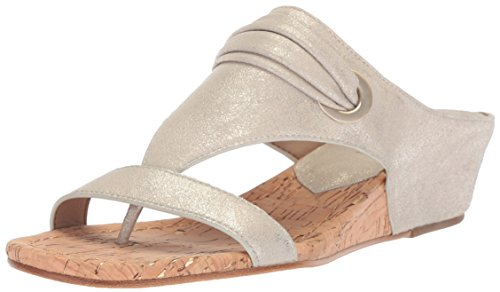 Donald J Pliner Women's Dionne Wedge Sandal, Platino, 7.5 Medium US