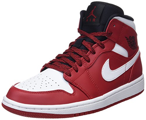 NIKE Men's AIR Jordan 1 MID Shoe Gym RED/White/Black (11.5 D(M) US)
