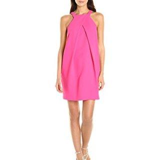 Trina Turk Women's Felisha Classic Crepe Pleated Dress, Pink Swizzle, 10
