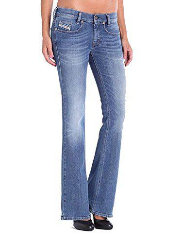 Diesel Women's Louvboot Slim Bootcut Stretch Jeans (Blue, 32W x 30L)