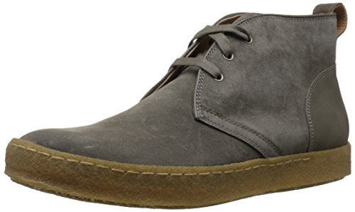 John Varvatos Men's Mick Crepe Chukka Boot Ankle Bootie, Lead, 7.5 M US