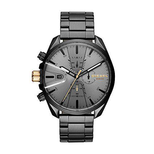 Diesel Men's 'Ms9 Chrono' Quartz Stainle, Steel Casual Watch, Color:Black (Model: DZ4474)