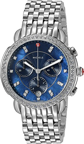 Michele Women's 'Sidney' Swiss Quartz Stainless Steel Casual Watch, Color Silver-Toned