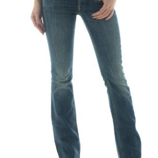 Diesel Blue Women's Cherock Slim Boot Cut Jeans (27 Long 32)