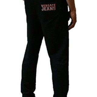 Versace Black Sweatpants with Red Outlined Logo (52-L)