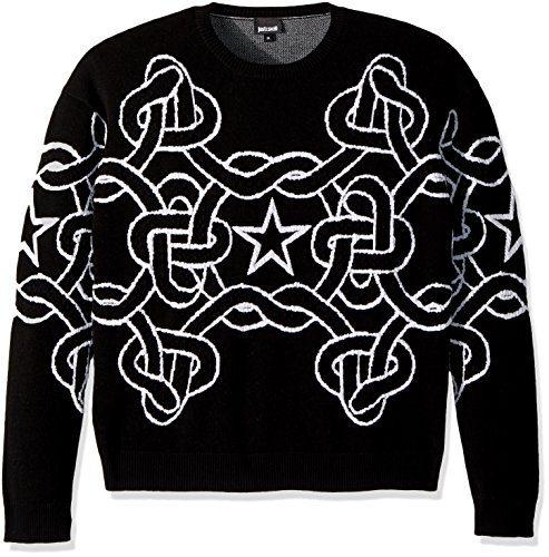 Just Cavalli Men's Chain Link Sweatshirt, Black, L