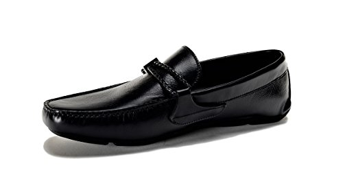 Versace Collection Men's Medusa Leather Loafers Shoes Black US 7 IT 40