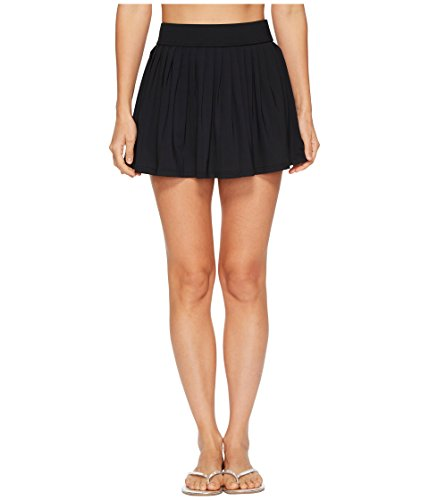 Kate Spade New York Women's Solids #80 Pleated Skirt Cover-Up Black X-Small