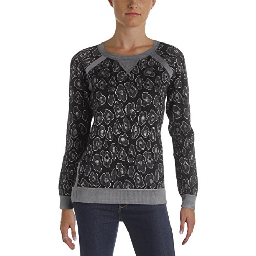 Marc by Marc Jacobs Womens Cassidy Jacquard Pullover Sweater Black XS