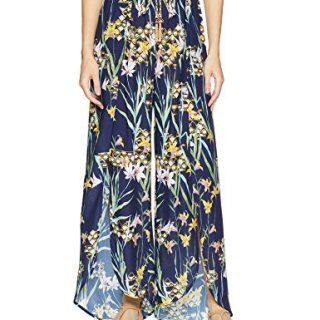 Trina Turk Women's Tie Front Wrap Pant, Fiji Floral/Midnight, XS