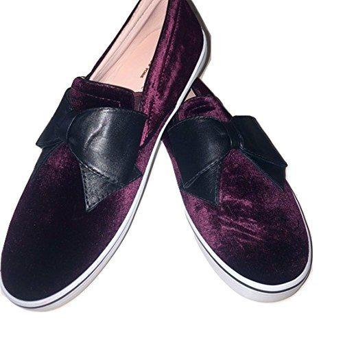 Kate Spade Delise Too Velvet Slip On Sneakers Bordeaux (8)
