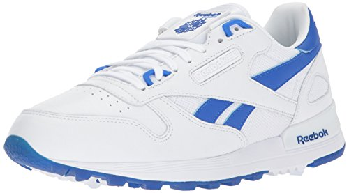 Reebok Men's CL Leather 2.0 Sneaker, White/Vital Blue, 13 M US