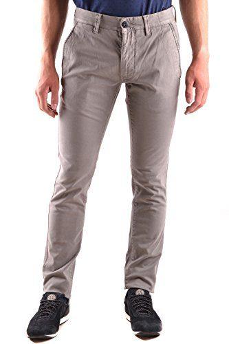 Stone Island Men's Grey Cotton Pants