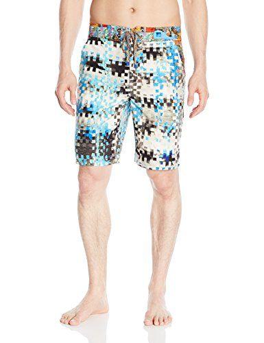 Robert Graham Men's All Over Print Woven Swim Trunks
