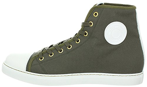 Marc Jacobs Leather Trimmed Textured Canvas Trooper High-Top (8 US)