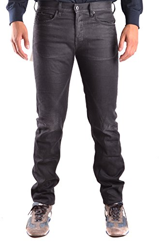 Stone Island Men's Black Cotton Jeans