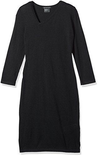 A|X Armani Exchange Women's Asymmetrical Neck Long Sleeve Dress, Black, X-Large