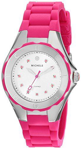 MICHELE Women's Jellybean Analog Display Analog Quartz Pink Watch