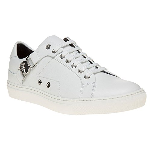 Versace Collection Saddle Branded Low Top Mens Sneakers White