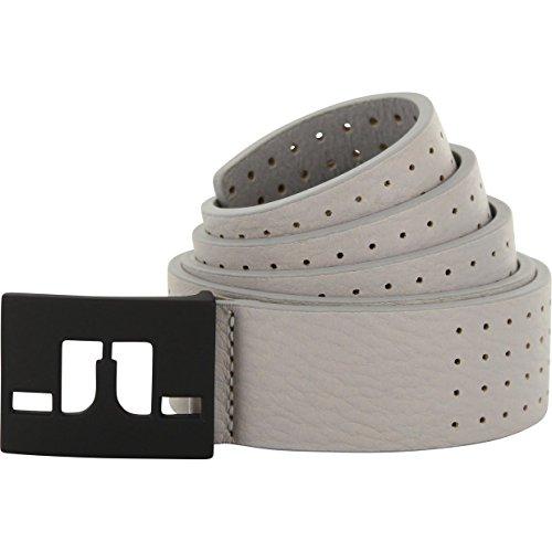 """J.LINDEBERG Austin Dotted Leather Golf Belt Gray 80 (28"""")"""