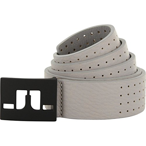 "J.LINDEBERG Austin Dotted Leather Golf Belt Gray 80 (28"")"