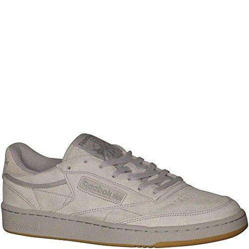 Reebok Men's Club Fashion Sneaker, Steel/Carbon-Gum, 10 M US
