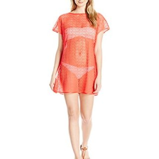 Ted Baker Women's Callea Textured Cover up, Bright Orange, S