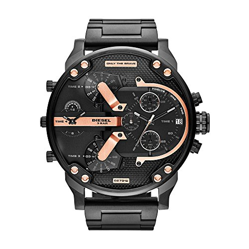 Diesel Men's Mr Daddy 2.0 Quartz Stainless Steel Chronograph Watch, Color Black