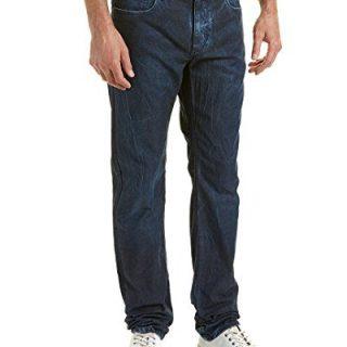 Robert Graham Men's Blue Desert Woven Denim Tailored Fit, Indigo, 40x34