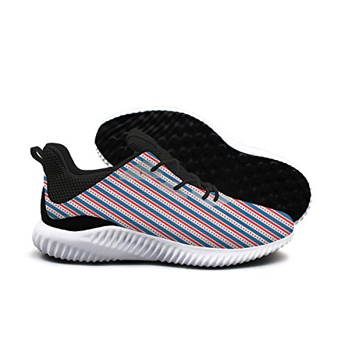 AKDJDS The Red Blue Stars American Usa Flag Men Shoes Running Shoe Casual Sneakers