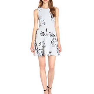 A|X Armani Exchange Women's Print Scoop Neck Sleeveless Skater Dress, Floral, 2