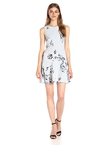 A|X Armani Exchange Women's Print Scoop Neck Sleeveless Skater Dress, Floral, 2