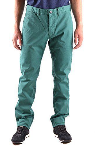 Stone Island Men's Green Cotton Pants