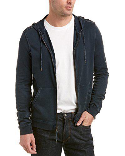 John Varvatos Star USA Mens Hoodie, S, Blue