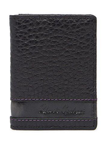 Robert Graham Men's Bradford Leather RFID Card Case, One Size, Black