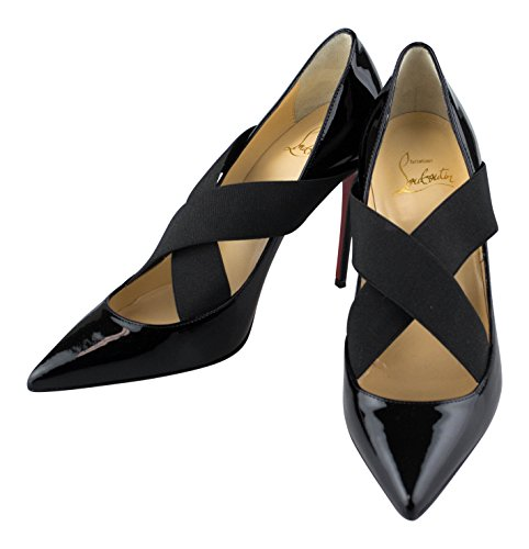 CHRISTIAN LOUBOUTIN Black Patent Leather Sharpstagram Pumps 6 US 36 EU