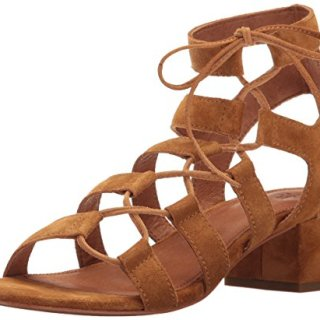 FRYE Women's Chrissy Side Ghillie Dress Sandal, Cognac, 7 M US