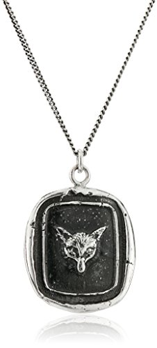 Pyrrha Unisex Fox Sterling Silver Talisman Pendant Necklace