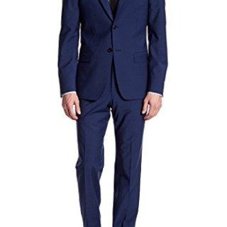 John Varvatos Blue Two Button Notch Lapel Wool Blend Suit for Men in Blue, 46 L