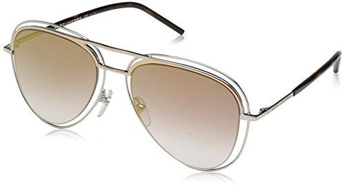 Marc Jacobs Men's Aviator Sunglasses, PALLADIUM/GOLD, 54 mm