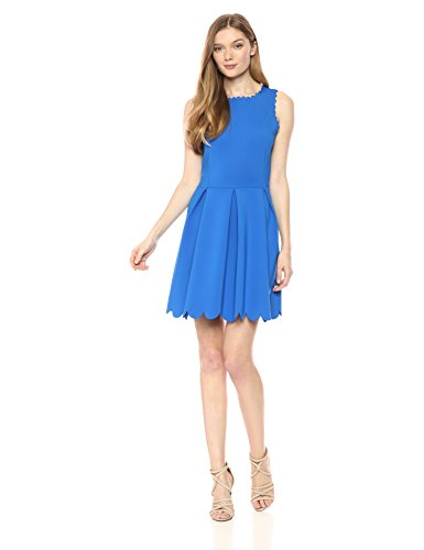 A|X Armani Exchange Women's Sleeveless Cocktail a-Line Dress, Victoria Blue, S